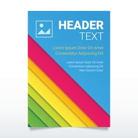Creative colorful flyer vector template in A4 size.