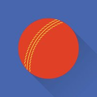 Cricket game flat icon