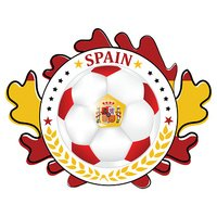 Soccer Ball with colors Flag of Spain
