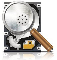 Vector HDD under the magnifying glass, front view