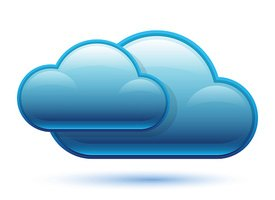 Glossy Cloud Icon. Vector Illustration