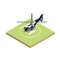 Isometric boarding helicopter