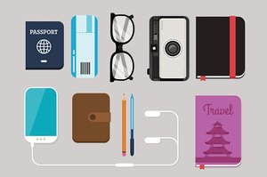 Flat Lay Travel