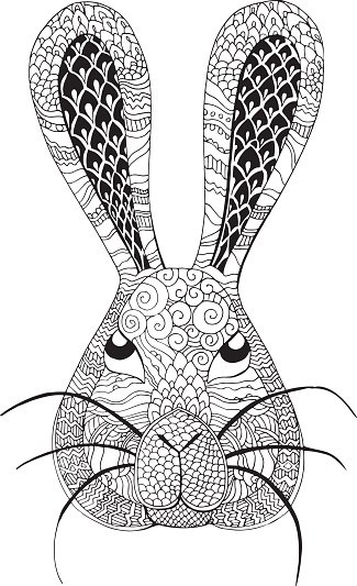 arctic hare filled with patterns