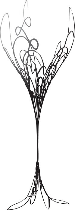 Stylized Wineglass For Fault