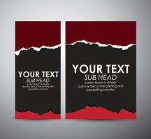 Abstract Torn Paper with space. Graphic resources design template.