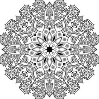 Decor floral mandala