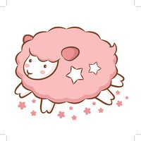 Sweet Style Aries Mascot. Sheep Constellation Character Design Series.