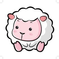Lovable Sheep Character.  Asian Zodiac Character Design Series.