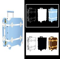 Beautiful Vector Traveling Bag Design with Silhouette