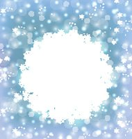 Christmas frame made in snowflakes on elegant glowing background