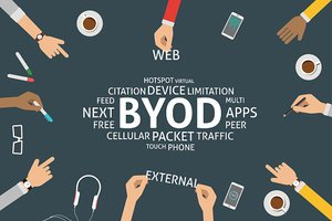 vector BYOD concept,template
