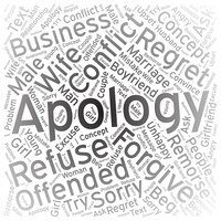 Apology,Word cloud art background