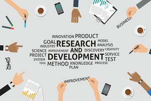 vector research and development concept,template
