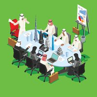 Sheik Businessman Isometric People