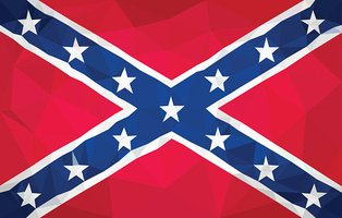 Confederate low poly flag