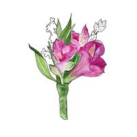 background bouquet of wildflowers. watercolor