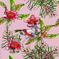seamless pattern with tropical elements. background. watercolor.