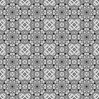 Vector Seamless Vintage Black and White Lace Pattern