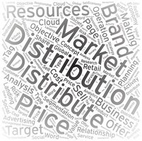 Distribution ,Word cloud art background