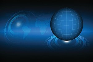Abstract Technology Background with Globe