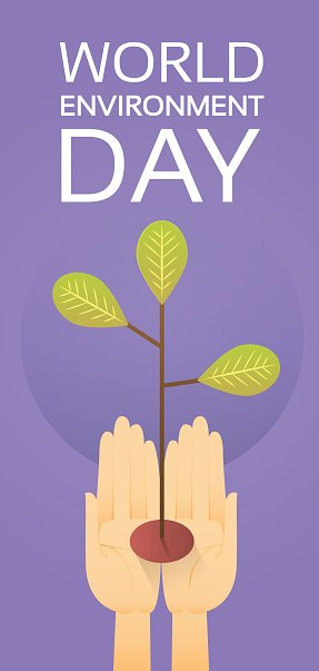 Hands Hold Growing Tree World Environment Day Earth Protection