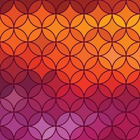 Stained glass vector circle background.