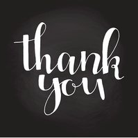 Thank you handwritten vector illustration