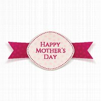 Happy Mothers Day Holiday festive Label