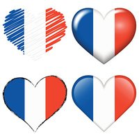 france europe soccer hearts collection