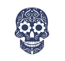 Skull vector background for fashion design, patterns, tattoos