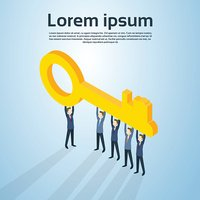 Business People Group Hold Key
