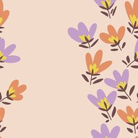 Flower pattern. Spring vector hand-drawn doodle