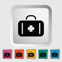 First aid vector flat icon