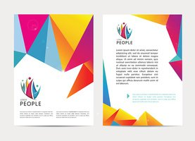 Vector document, letter or logo style cover brochure and letterhead