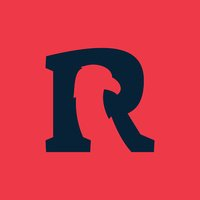 R letter icon with eagle negative space.