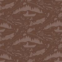 Seamless pattern for fishing theme