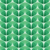 Seamless pattern of abstract leaves