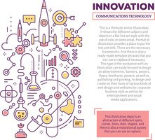 Vector creative concept illustration of innovation with header