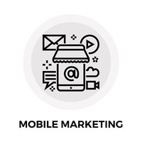 Mobile Marketing Line Icon