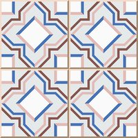 Ceramic tile pattern 357 star squre geometry cross line