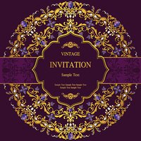 Wedding invitation or card with abstract background.