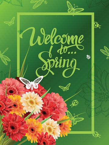 Welcome To Spring Lettering