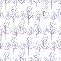 Wild flower spring field seamless pattern