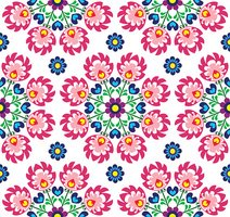 Seamless floral Polish folk art pattern