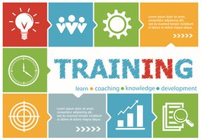 Training design illustration concepts for business, consulting,