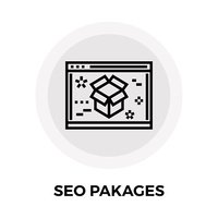 SEO Packages Line Icon
