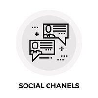 Social Chanels Line Icon