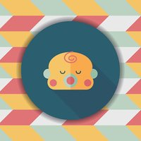 baby boy flat icon with long shadow,eps10
