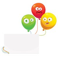 Vector illustration of a colourful birthday or party balloons